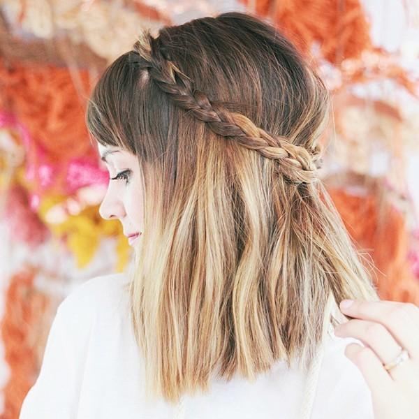 tóc ngắn vòng cung sau đầu