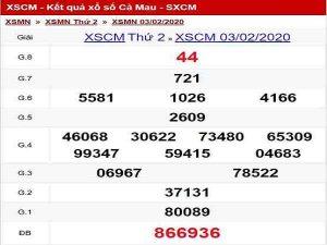Bảng tổng hợp KQXSCM ngày 10/02 chuẩn 100%