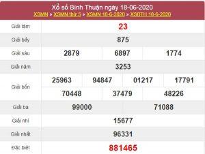Dự đoán XSBTH 25/6/2020 chốt KQXS Bình Thuận thứ 5