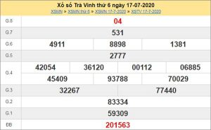 Soi cầu XSTV 24/7/2020 chốt KQXS Trà Vinh thứ 6