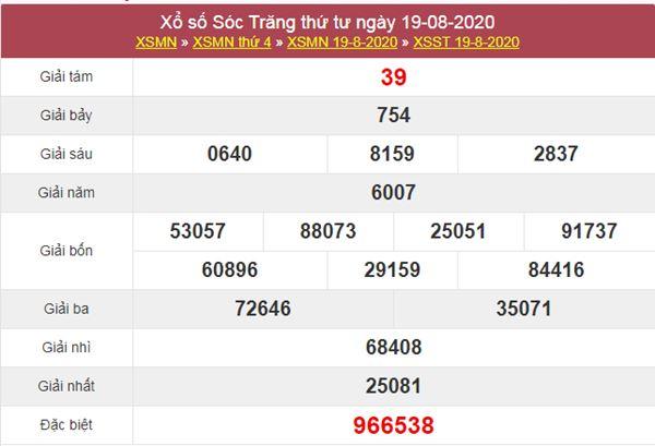 Dự đoán XSST 26/8/2020 chốt lô VIP Sóc Trăng thứ 4