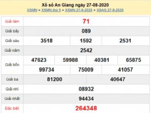 Dự đoán KQXSAG- xổ số an giang thứ 5 ngày 03/09/2020 tỷ lệ trúng cao
