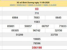 Soi cầu XSBD 18/9/2020 chốt kết quả Bình Dương cực chuẩn