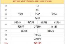Thống kê XSVL ngày 30/10/2020 dựa trên phân tích KQXSVL kỳ trước