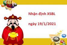 Nhận định XSBL 19/1/2021