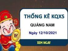 Thống kê xổ số Quảng Nam ngày 12/10/2021